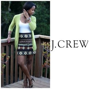 J Crew Green Cardigan Sweater